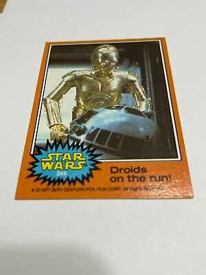 1977 Topps Star Wars Series 5 Orange Trading Cards Singles Complete Your Set NM