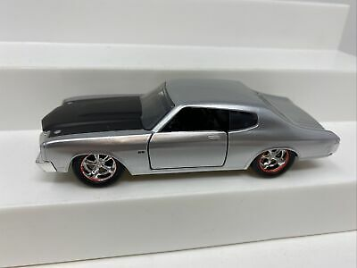 JADA BIGTIME MUSCLE 1970 CHEVY CHEVELLE SS 1:32 SCALE METAL SILVER//BLACK.