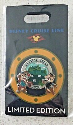 NEW DCL Disney Cruise Line Pin 2020 British Isles Chip Dale LE 400 Fast Shipping