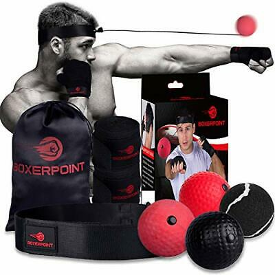 Boxing Reflex Ball Set 4 Difficulty Level Training Balls on String Punching D6 for sale online