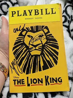 The Lion King Playbill Brand New Broadway in Miami Shows May 2019