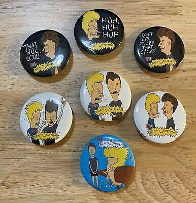 Vintage 90s Beavis and Butthead Buttons Pins