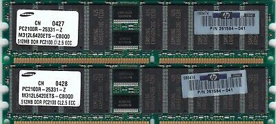 1GB DDR-266 RAM Memory Upgrade Kit for The Compaq HP Presario 2209CL 2x512MB PC2100