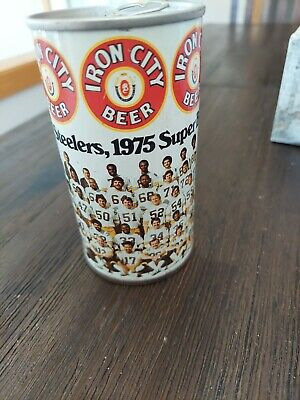 IRON CITY DRAFT BEER ss CAN w// DRAFT BEER in BLACK Pittsburgh PENNSYLVANIA 1//1+