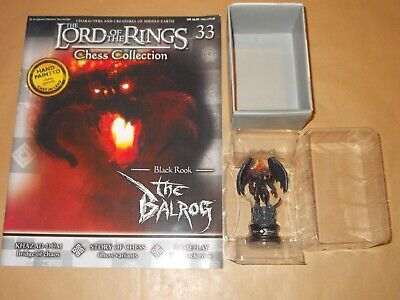 MAG LORD OF THE RINGS CHESS COLLECTION 4 BARAD-DUR EAGLEMOSS FIGURE BLACK ROOK