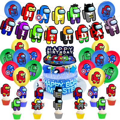 8 Greeting Cards,100 Stickers for Video Game Themed Party Among Us 132 Pack Birthday Party Supplies Favors Gifts Set Include 12 Bracelets 12 Button Pins