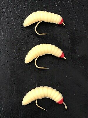Blobs Flies. Lures New X3 Jelly Maggots Size 10 Trout Flies
