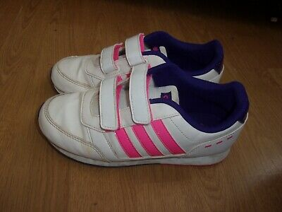 ADIDAS NEO LABEL White, Pink & Purple girls trainers size 2 ...