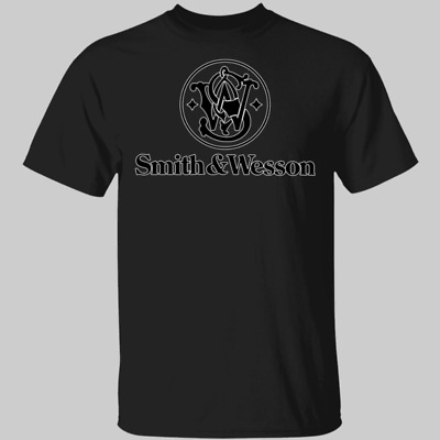 New Smith and Wesson Logo T-Shirt S-3XL Pistols Revolvers and Rifles