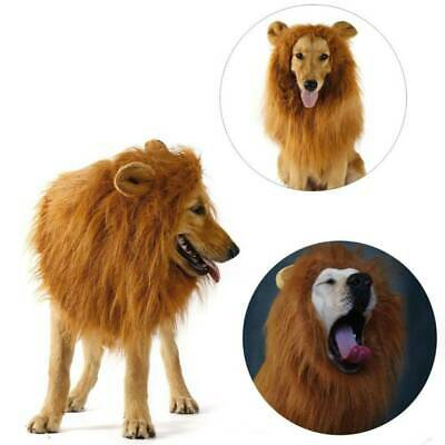 Pet Lion Mane Wig Dog Cat Cosplay Party Costume Clothes Fancy Dress Up With Ears