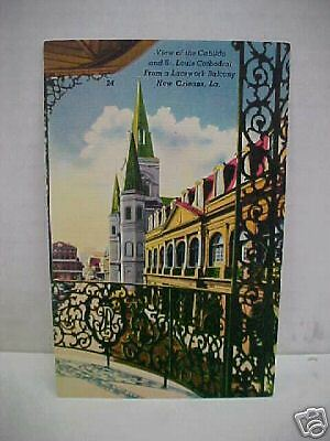 View Of Cabildo & St. Louis Cathedral; New Orleans, LA Postcard