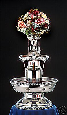 "33"" Apex 5Th Avenue Stainless Steel Champagne Punch Beverage Fountain 5 Gallon"