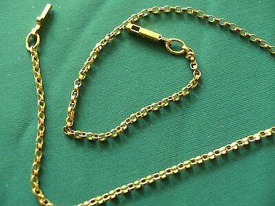 1/0th 9ct ROLLED GOLD FANCY No65 LINK CHAIN ANKLET.