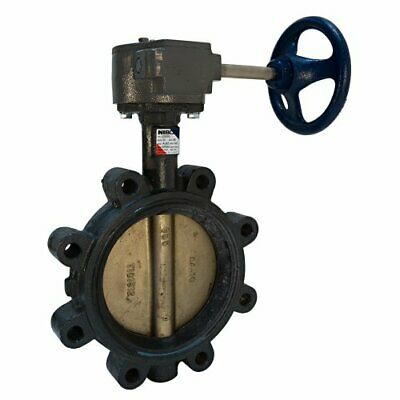 "8"" Nibco Ld-2000-5 Di Lug Style Gear Op Butterfly Valve"