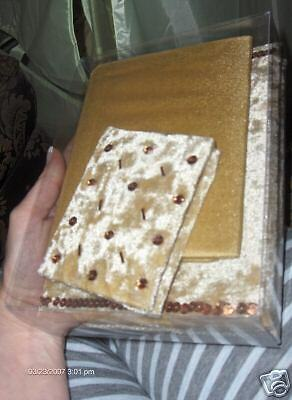 Nwt Photo Album, Address Book, Journal Gold 3Pc