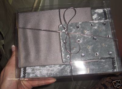 Nwt Photo Album, Address Book, Journal Silver 3Pc