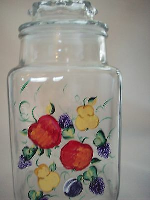 Hand painted fruit cookie jar