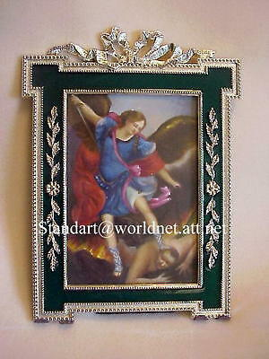 Russian Imperial Empress Marie Romanov frame with Oil Painting St. Michael Icon