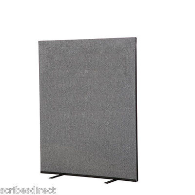Woolmix Office Partition/Room Divider Screen 120 x150cm in Grey