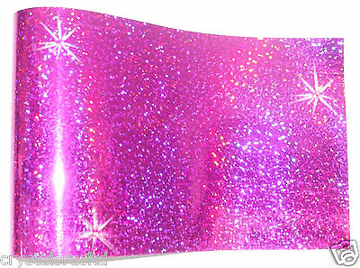 HOT PINK  iron-on hot-fix spangle sequin sheet crafts