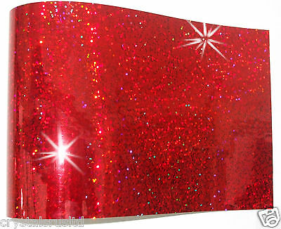 RED  iron-on hot-fix spangle sequin sheet crafts