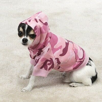 Casual Canine PINK Camo Hoodie Small NEW NWT