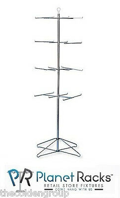 1-4 Tier Rotating Wire Spinner Rack Floor Model 63 1/2""
