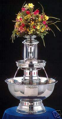 "28"" Apex Princess Stainless Steel Champagne Punch Beverage Fountain 5 Gallon"