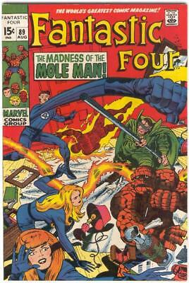 FANTASTIC FOUR # 89 Aug 1969  MOLE MAN JACK KIRBY STAN LEE Free SHIPPING to USA