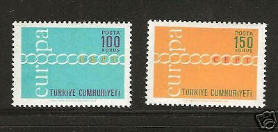TURKEY # 1876-1877 MNH Europa