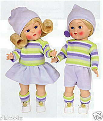 Vogue Vintage Binky & Bunky Repro Doll Set in Blue 2004