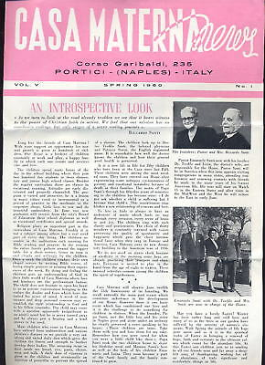 Italy Childrens Home 1960 Casa Materna Illustrated News