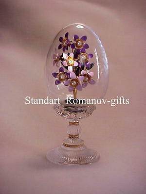 Faberge RUSSIAN IMPERIAL Violets Egg Genuine Hallmark