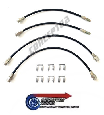 Uprated Stainless Braided Brake Line Set of 4 - For R32 GTS-T Skyline RB20DET