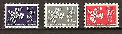 TURKEY # 1518-1520 MNH Europa 1961
