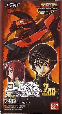 Code Geass Carddass Masters Part 2 Sealed Box Clamp