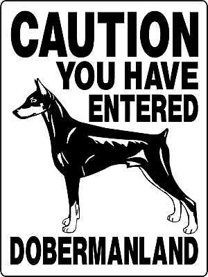DOBERMAN DOG SIGN GUARD DOBERMAN PINSCHER Decal 1970A