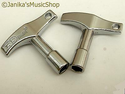 2 Drum Keys - Percussion Square And Hexagonal Key New