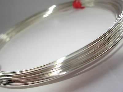 9ft 20 gauge solid Sterling Silver round beading wire half oz half hard w20HH