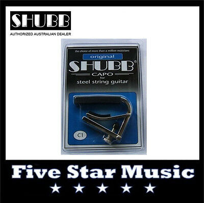 NEW Shubb C1 Standard Capo for Steel String guitar