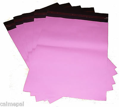 "PINK MAILING BAGS 40 x SIZE 10"" x 14"" INCH *FREE p&p*"