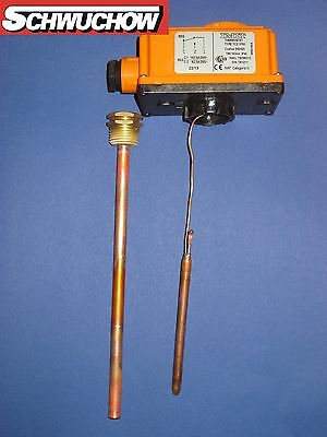 1 Tauchthermostat TC 200 A 0-90°C  200 mm lang Thermostat Kessel Speicher