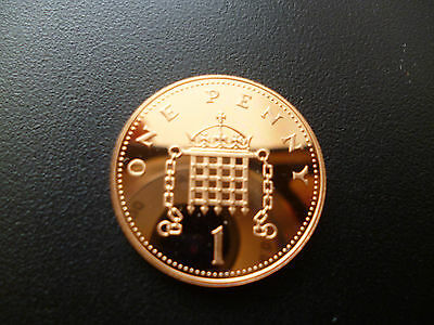 1984 Proof One Pence Piece, 1984 1P Housed In A New Capsule.