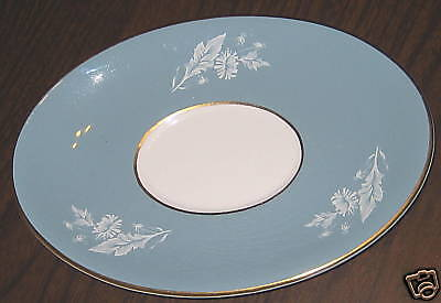 SKYE Chinastyle PLATE OVAL POTTERY SIMPSONS LTD. blue, White Decor VNT.