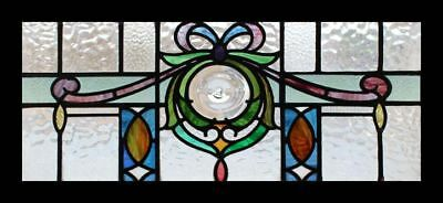 Stained Glass Window Antique English Victorian Rondel Beautiful • CAD $2,295.07