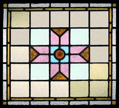 Stained Glass Windows Antique English Victorian Pair