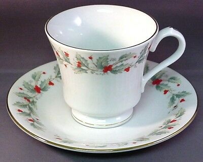 China Pearl Noel Christmas / Holiday Dinnerware - Cup & Saucer Set