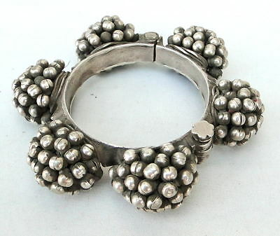 Antique Collectible Ethnic Tribal Old Silver Bracelet Bangle Belly Dance India
