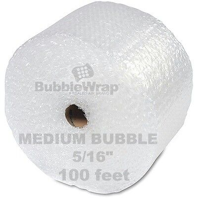 "Bubble Wrap 100 ft  x 12"" Medium wPerf Sealed Air 5/16"