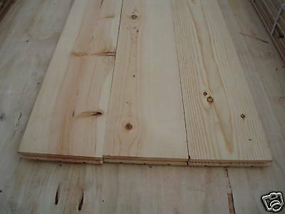 """Flooring Pine Knotty Wide Plank 3/4"""" X 5"""" Solid Wood"""